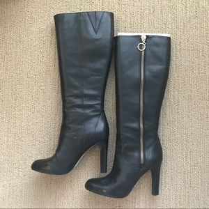 Upper Leather Wide Calf Boots